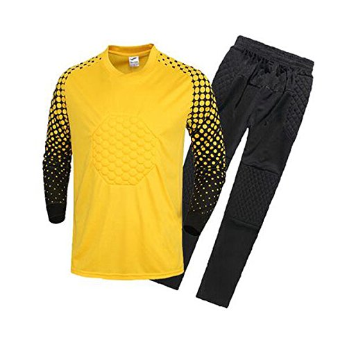 Amazon.com : FidgetFidget Mens Soccer Goalkeeper Sponge Protector Suit Camisetas De Futbol RedUS L/Asian XXL : Sports & Outdoors