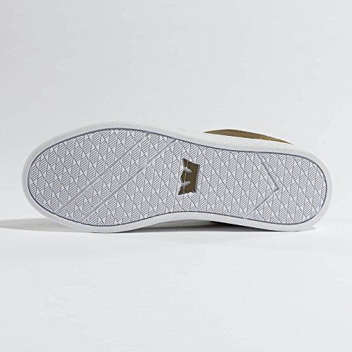 Supra Chino Court Skate Schoen Olijf-wit