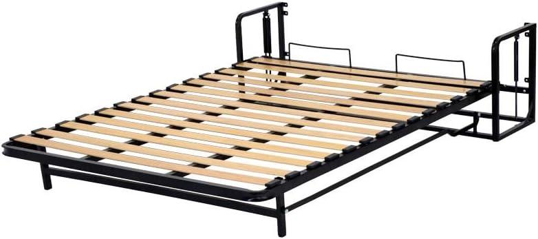 Cama plegable / cama abatible de pared pequeña doble vertical, 140 cm x 190 cm, diseñada para uso diario – Mecanismo sólido
