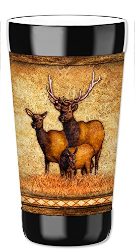 Mugzie 16 Ounce Travel Mug/Drink Cup with Removable Insulated Wetsuit Cover - Elk's