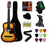 """YMC 38"""" Sunburst Beginner Acoustic Guitar Starter"""
