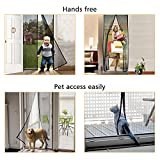 """[Updated Version]Magnetic Screen Door, TeeBeg Mosquito-Proof Screen Door, 36""""x83"""", Super Reinforced Mesh Powerful Magnetics Perfect Seal, Magnets Door Close Automatically and Hands-Free (Black)"""