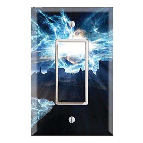 Single Supernova (Single Rocker Wall Switch/Outlet Cover Plate Decor Wallplate - Super Nova Space)