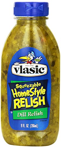Vlasic Squeezeable Homestyle Pickle Relish, Dill, 9 oz (Pack of 12) ()