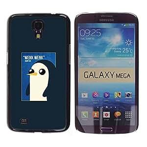 Pingüino lindo de la acuarela de los rosas bebés- Metal de aluminio y de plástico duro Caja del teléfono - Negro - Samsung Galaxy Mega 6.3