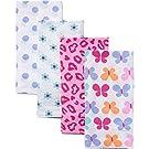 Gerber Prefold Diaper Burp Cloths, Girl Floral Print, 4 Count