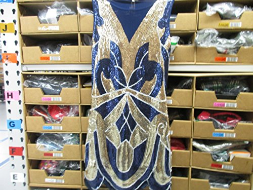 [Vijiv 1920s Vintage Charleston Downton Gatsby Sequin Embellished Flapper Dress] (1940s Dance Costumes)