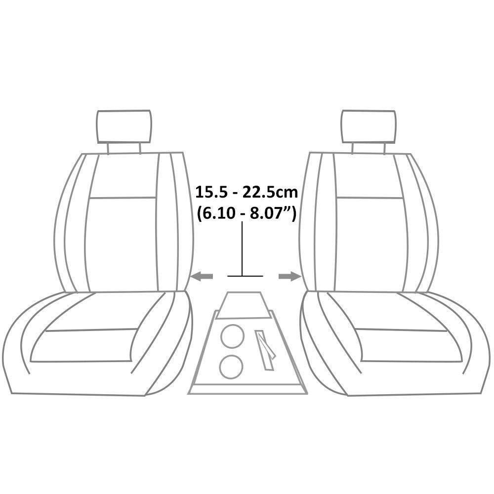 colore: nero furgone Boloromo autobus Bracciolo universale per auto
