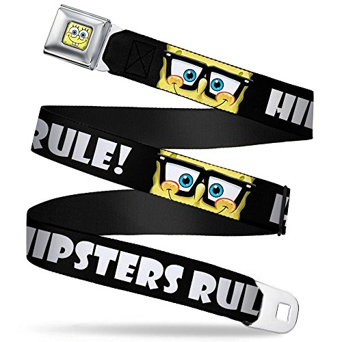Buckle-Down Seatbelt Belt - SpongeBob Nerd HIPSTERS RULE!