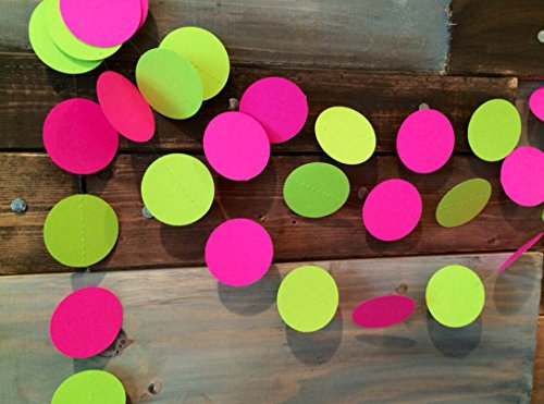 Hot Pink and Lime Green Paper Garland (Hot Pink And Lime Green compare prices)