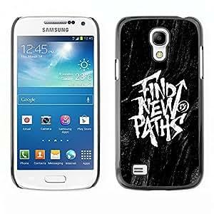 Ihec Tech Encontrar Mensajes Nuevos Caminos Negro Inspiring / Funda Case back Cover guard / for Samsung Galaxy S4 Mini i9190