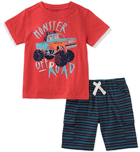 Kids Headquarters Boys' Little' 2 Pieces Short Set, Red/Blue/Black, 6 - Headquarters 3 Piece Set