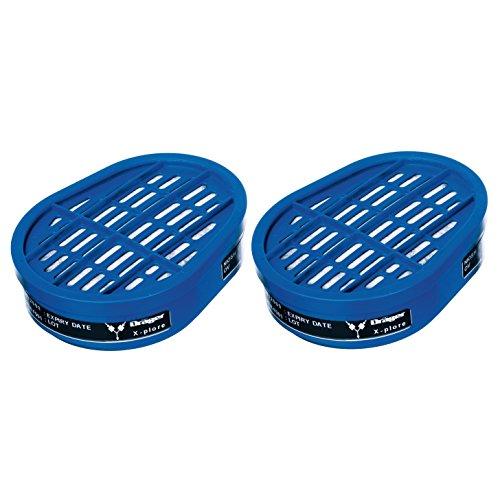 Dräger X-plore Gas Cartridge Organic Vapors (OV) | 20 Pieces | NIOSH-Approved | for Dräger X-plore 5500 Full-Face Respirator Mask | for Dräger X-plore 3300 & 3500 Half-Face Respirator Masks ()