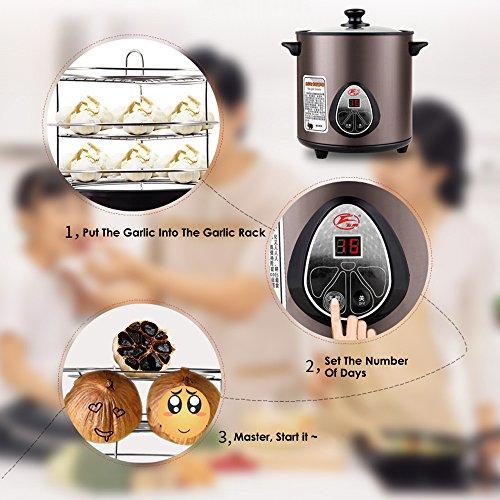 HUKOER Black Garlic Fermenter Full Automatic Intelligent Control, Single Colve Garlic Mutiple Clove Garlic DIY for home 110V by HUKOER (Image #1)