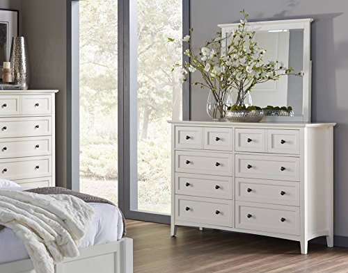 Modus Furniture 4NA482 Paragon Eight-Drawer Dresser, White