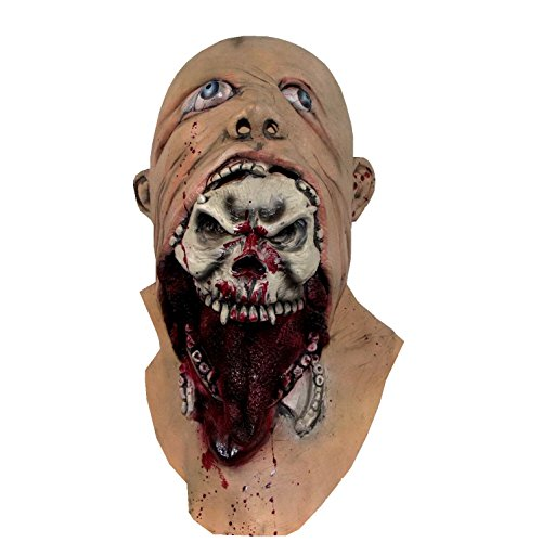 Molezu Blurp Charlie Mask, Halloween Novelty Mask Costume Party Cosplay Scary Latex Mask