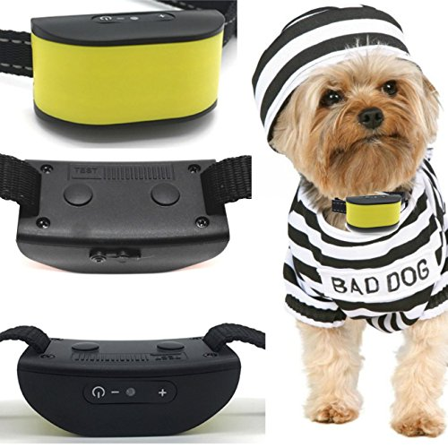 Classic 680-DCV Yellow (Rechargeable Vibration) No Hurt Bark Dog Collar ( Mini & Small Dogs 4lbs plus) Bark Training Solution. (NEW CHIP TECHNOLOGY 2018) 100% Lifetime Product - Times Tico The