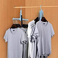 ONEYUE Magic Clothes Hangers, Foldable Dual Hanger Closet Organizer Space Saving Hangers for Clothes Shirts Sweaters Coat Drying Rack