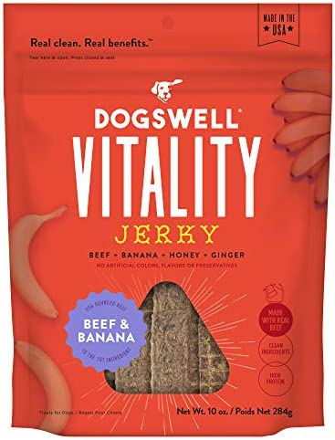 DOGSWELL Vitality 100 Meat Jerky Dog Treats, Made in The USA Only Grain Free, Protein