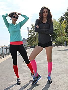 Pair of 2 Sleeves for Calf Strains Compression Calf Sleeve Varicose Veins Shin Splints Mojo Compression Running Black, Medium 20-30mmHG Injury Recovery /& Prevention