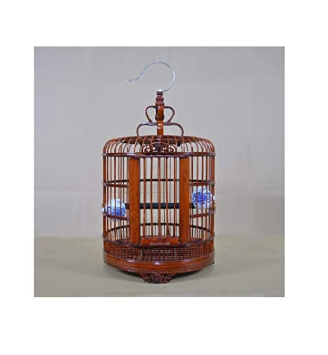 Yanxinenjoy Jaula de pájaros Jaula de pájaros de bambú Jaula de ...