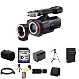 Sony NEXVG900 Full Frame Interchangeable Lens Camcorder Video Camera (Black) + 32GB SDHC Class 10 Memory Card + Full Size Tripod + Deluxe Extra Large Video Bag + NP-FV70 Lithium Ion Rechargeable Battery + Lithium Ion External Rapid Battery Charger + Mini