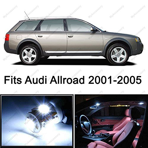 Audi Allroad (23 x Premium Xenon Error Free White LED Lights Interior Package Upgrade for Audi Allroad (2001-2005))