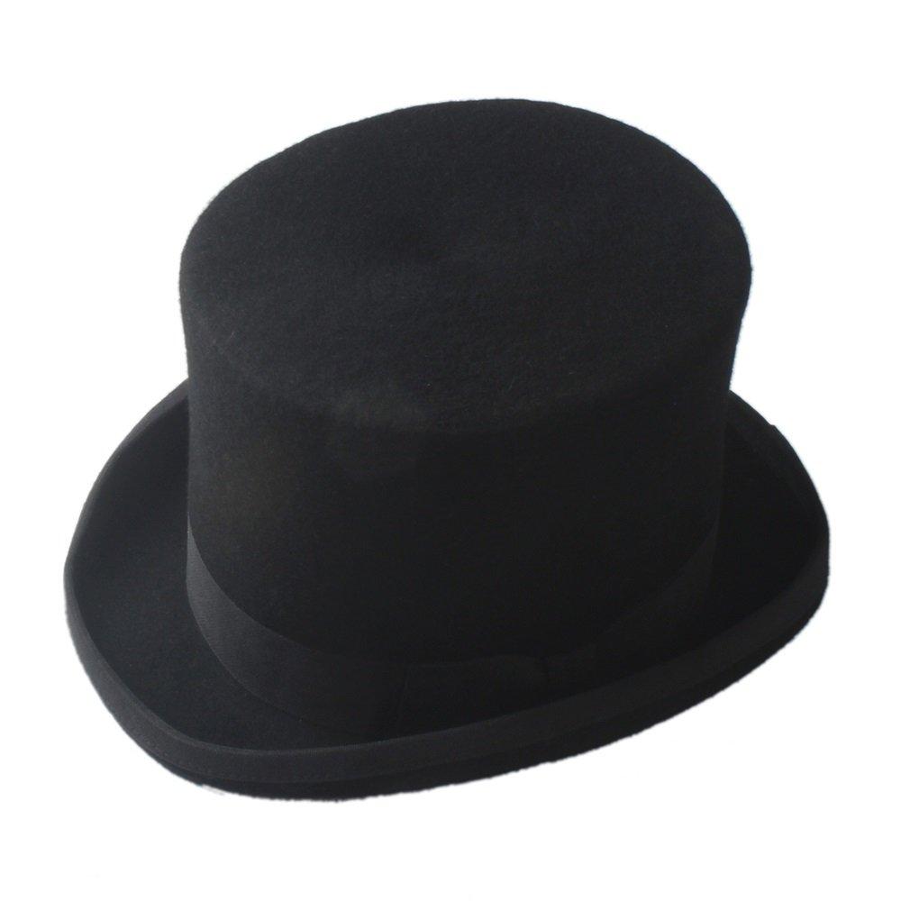 HYF Steampunk Negro Sombrerero Loco Sombrero de Copa Victorian Vintage Lana Tradicional Sombreros Sombrero de ala Ancha Sombrero (Color : Gris, tamaño : 61cm) tamaño : 61cm)