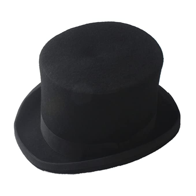 5faf71004136a Steampunk Mad Hatter Top Hat Victorian Vintage Traditional Wool Fedoras Hat   Amazon.co.uk  Clothing