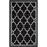 Safavieh Amherst Collection AMT414G Anthracite and Ivory Indoor/Outdoor Area Rug (3′ x 5′)