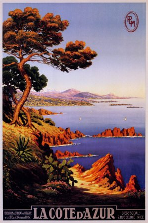 Cote Dazur Collection - La Cote d'Azur Poster Collections Poster Print by M. Tangry, 24x36