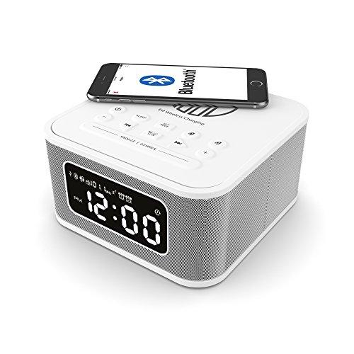 Neptune Free Speaker, Wireless QI Charging Station, Bluetooth Dual Alarm...