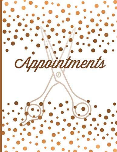 Appointments: Hair Salon Appointment Setting Book