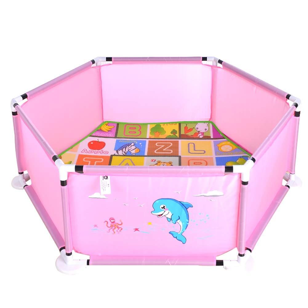 【あす楽対応】 子供の遊び場安全クロール幼児ゲームフェンス屋内ベビーホームベビーマリンボールプールフェンス (色 : : Pink, サイズ さいず Pink : Mat+Ocean Mat+Ocean ballX100) Mat+Ocean ballX100 Pink B07L1SRJTH, 釣具のレインドロップス:2d3b5841 --- a0267596.xsph.ru