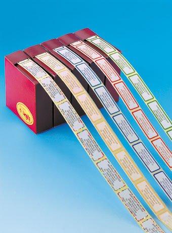 TTS 300 Etiketten 18x48mm in versch. Farben mit Wunschbeschriftung
