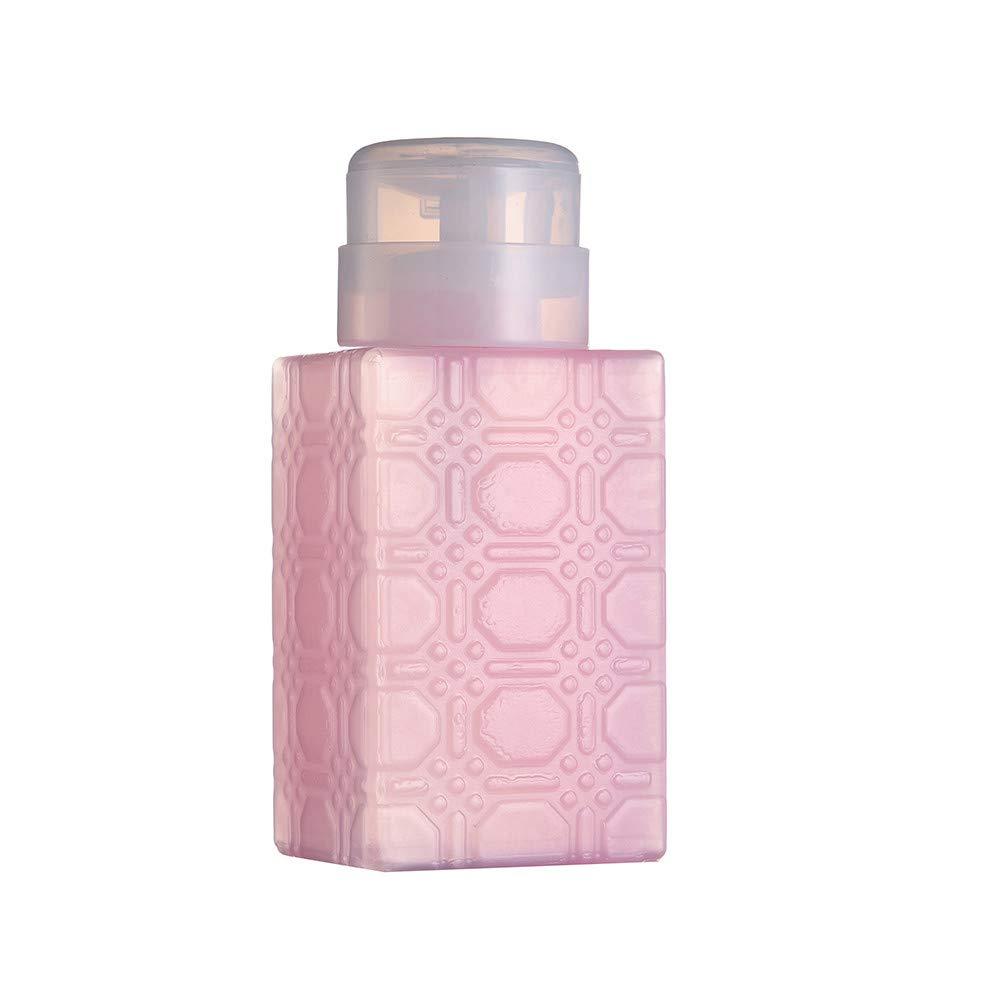 Pump Dispenser Bottle, Covermason Pump Dispenser Bottle Nail Art Acetone Polish Makeup Remover Manicure Tool (Pink) covermason Eye Shadow