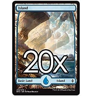 Amazon Com Cool Stuff Inc Llc 20 Battle For Zendikar Island 255 Magic The Gathering Basic Full Art Land Lot Toys Games