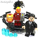 Best unknown Iron Man Suits - BM104 Lego Iron Man Minifigures Circle Chest Pattern Review
