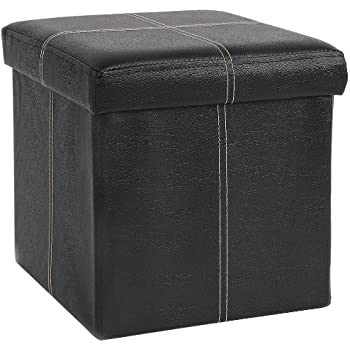 Amazon Com Fhe Group Folding Storage Ottoman 12 By 12 By