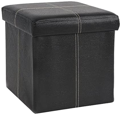 Amazoncom Fhe Group Folding Storage Ottoman 12 By 12 By 12 Inches