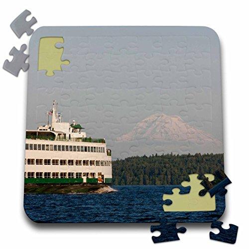Danita Delimont - Boats - USA, Washington, Seattle, Ferry boat in Puget Sound - US48 TDR0961 - Trish Drury - 10x10 Inch Puzzle (pzl_148680_2)