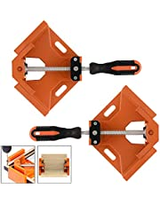 TAIWAIN Right Angle Corner Clamp 4pcs, 90 Degree Clamp Vice Grip Woodworking Welding Engineering Quick Fixture Tool, Aluminum Alloy Corner Clamps Holder Adjustable Swing Jaw Corner Clamp