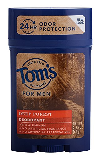 Tom's of Maine Men's Long Lasting Deodorant, Deep Forest, 2.25 Ounce (Deodorant Natural Tom)