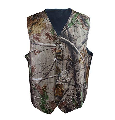 iLovewedding Mens Camouflage Vests for Wedding Groom White Camo Vest for Men (XXL, Grey Camo) (Suit Dress Camo)