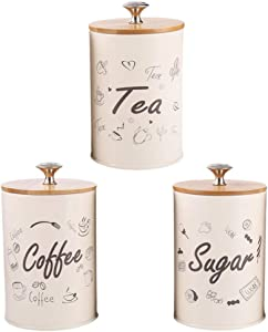 DOITOOL 3pcs Metal Tins with lids Decorative Candle Tins Empty Tin Box Airtight Food Storage Container Canister