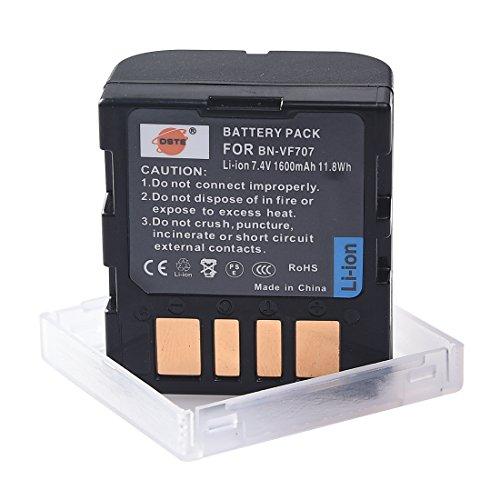 DSTE Replacement for BN-VF707 Li-ion Battery Compatible Jvc GR-D29 GR-D239 GR-D240 GR-D244 GR-D245 GR-D246 GR-D247 GR-D250 GR-D253 GR-D270 as BN-VF714