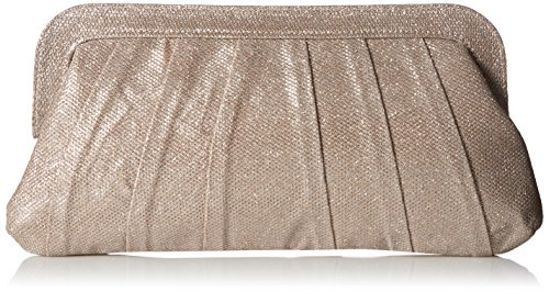 Jessica McClintock Rita Pleated Frame Clutch, Rose Gold by Jessica McClintock
