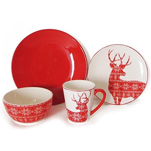 16-Piece Deer Dinnerware