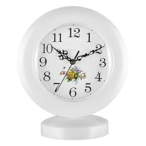 Amazon.com : Family Fireplace Clocks Creative European Desk Mute Silent Quartz Wooden Table Clocks for Living Room Suitable for Living Room Office Bedroom ...