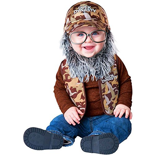 Duck Dynasty Baby Infant Costume Uncle Si (Grey Beard & Glasses) - Infant Medium